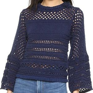 See By Chloe Bell Sleeve Indigo Sweater